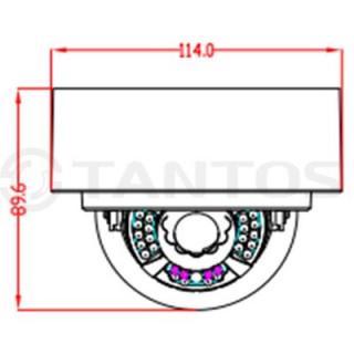IP-камера купольная Tantos TSi-Dn236FP (3.6)
