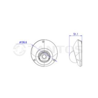 IP-камера купольная Tantos TSi-Dn425FP (2.8)