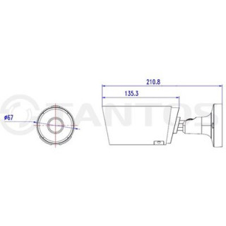 IP-камера цилиндрическая Tantos TSi-Pm25VP-N (2.8-12)