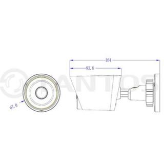 IP-камера цилиндрическая Tantos TSi-Pe40FP-F (3.6)