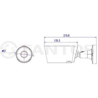 IP-камера цилиндрическая Tantos Tsi-Pn425FP (3.6)