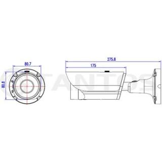 IP-камера цилиндрическая Tantos TSi-Pm425VP-N (2.8-12)