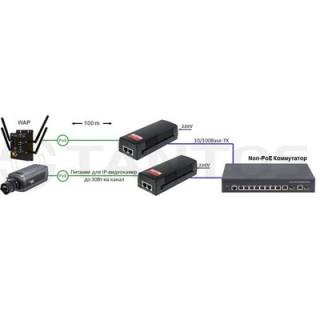 PoE-инжектор для сетей Tantos TSn-PoE56